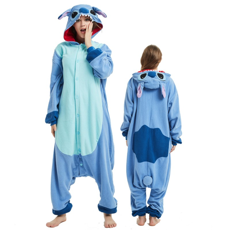 Lilo Stitch Onesie Costume Pajama For Adult Women Men Halloween Costumes Favounicorn Com
