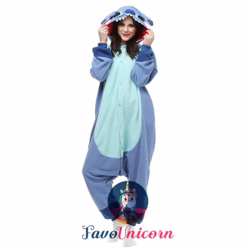 Lilo Stitch Costume Onesie Pajamas Adult Animal Onesie For Women Men Favounicorn Com