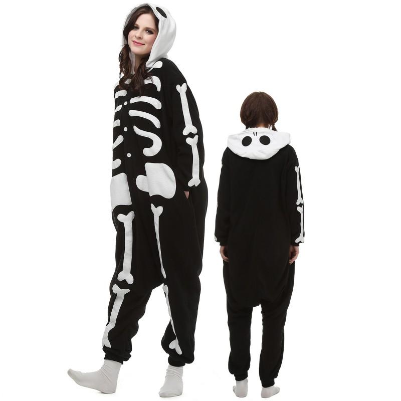 Skeleton Outfit Halloween.Skeleton Costume Onesie Pajamas Adult Animal Onesie For Women Men