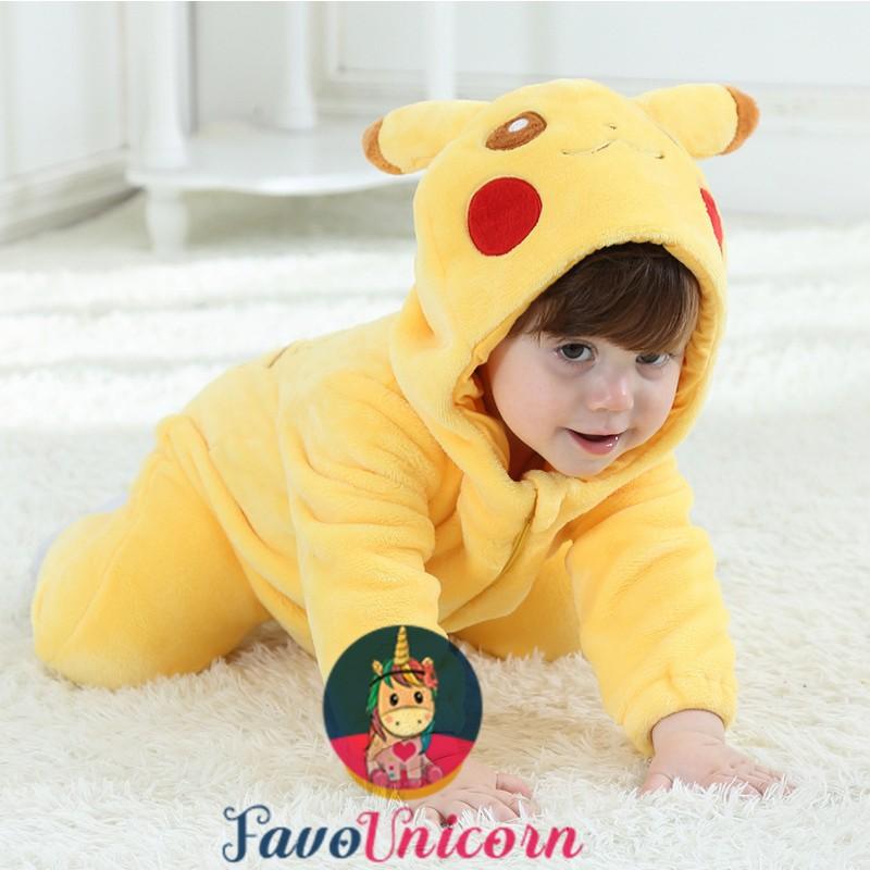 Pokemon Pikachu Onesie Pajama Toddler Animal Costume for Baby Infant - Favounicorn.com
