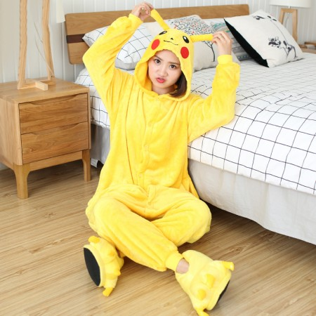 Pikachu Onesie Costume Adult Animal Onesies Halloween Outfit