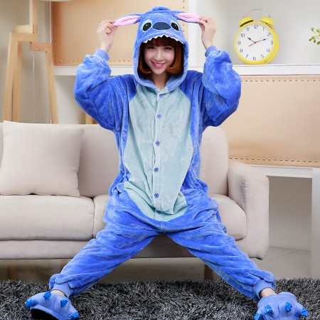 Stitch Onesie Costume Pajama For Adults & Teens Halloween Outfit