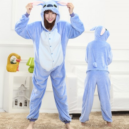 Blue Stitch Onesie for Women & Men Costume Onesies Pajamas Halloween Outfit
