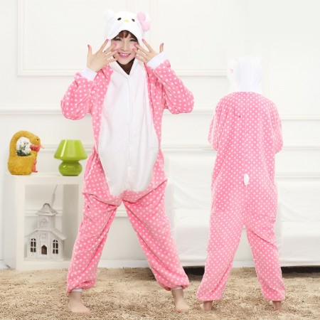 Cat Onesie for Women & Men Costume Onesies Pajamas Halloween Outfit