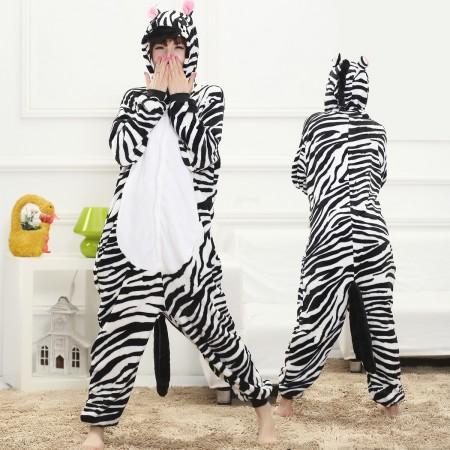 Zebra Onesie for Women & Men Costume Onesies Pajamas Halloween Outfit