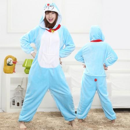 Doraemon Onesie for Women & Men Costume Onesies Pajamas Halloween Outfit