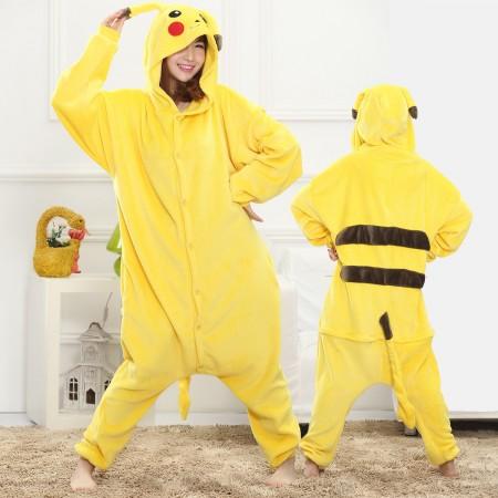 Pokemon Pikachu Onesie for Women & Men Costume Onesies Pajamas Halloween Outfit