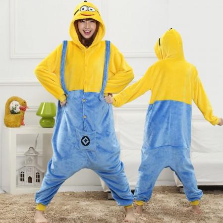 Minions Onesie for Women & Men Costume Onesies Pajamas Halloween Outfit