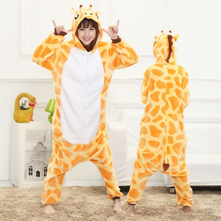 Giraffe Onesie for Women & Men Costume Onesies Pajamas Halloween Outfit