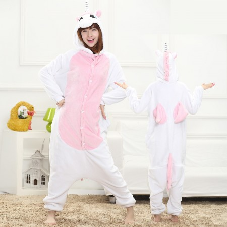 Pink Unicorn Onesie for Women & Men Costume Onesies Pajamas Halloween Outfit