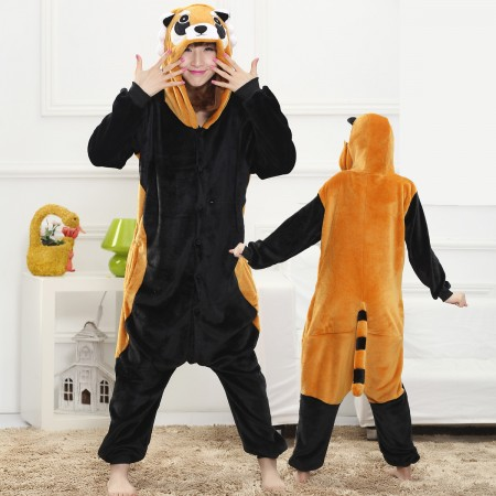 Red Panda Onesie for Women & Men Costume Onesies Pajamas Halloween Outfit