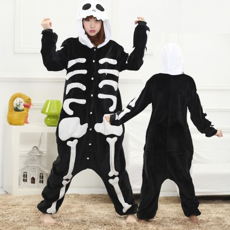 Skeleton Onesie for Women & Men Costume Onesies Pajamas Halloween Outfit