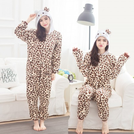 Leopard Cat Onesie for Women & Men Costume Onesies Pajamas Halloween Outfit
