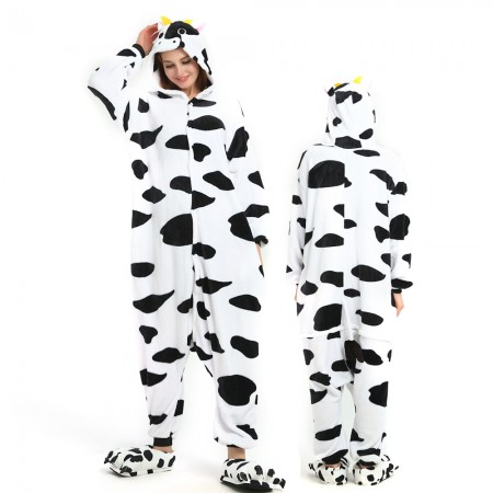 Cow Onesie for Women & Men Costume Onesies Pajamas Halloween Outfit