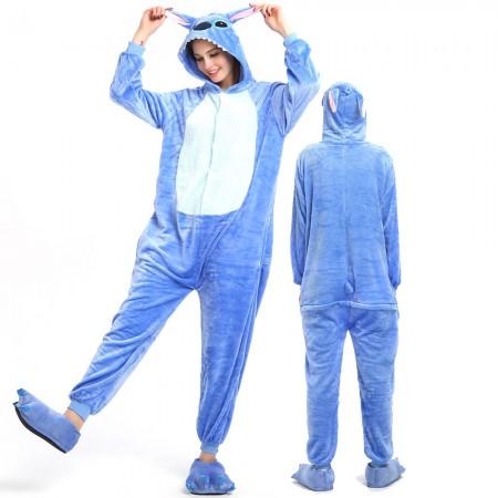 Stitch Costume Onesie for Women & Men Pajamas Halloween Outfit