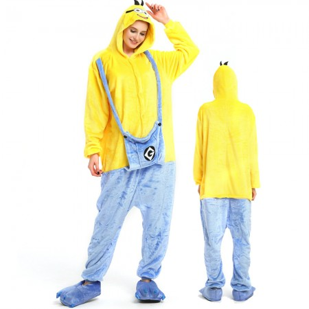 Minions Costume Onesie for Women & Men Pajamas Halloween Outfit