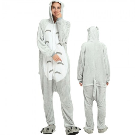 Totoro Costume Onesie for Women & Men Pajamas Halloween Outfit