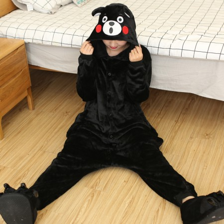 Kumamon Bear Onesie Costume Pajama for Adults & Kids Outfit