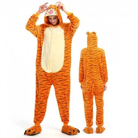 Tigger Costume Onesie for Women & Men Pajamas Halloween Outfit