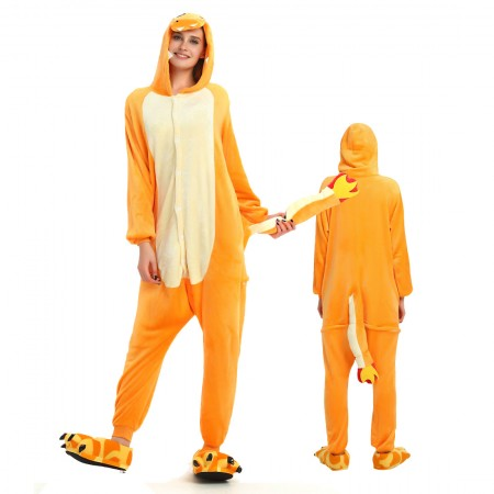 Charmander Costume Onesie for Women & Men Pajamas Halloween Outfit