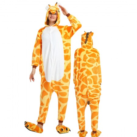 Giraffe Costume Onesie for Women & Men Pajamas Halloween Outfit