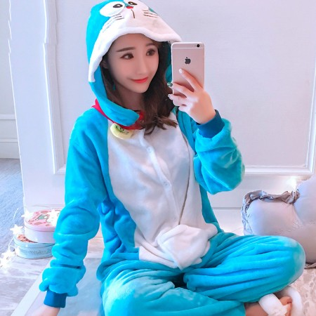 Doraemon Onesie Costume Pajama for Adults & Teens Outfit