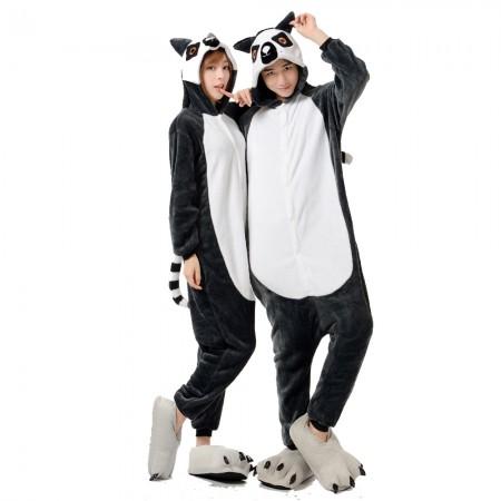 Lemur Costume Onesie for Women & Men Pajamas Halloween Outfit