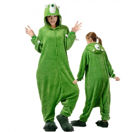 One Eyed Monster Costume Onesie for Women & Men Pajamas Halloween Outfit