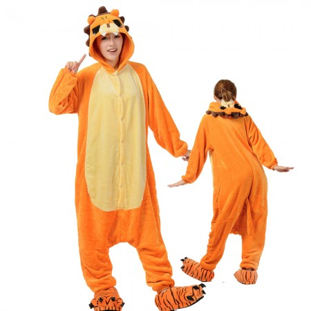 Lion Costume Onesie for Women & Men Pajamas Halloween Outfit