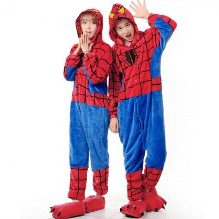 Spiderman Costume Onesie for Women & Men Pajamas Halloween Outfit