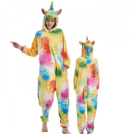 Star Dream Unicorn Costume Onesie for Women & Men Pajamas Halloween Outfit