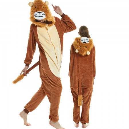 Lion King Costume Onesie for Women & Men Pajamas Halloween Outfit