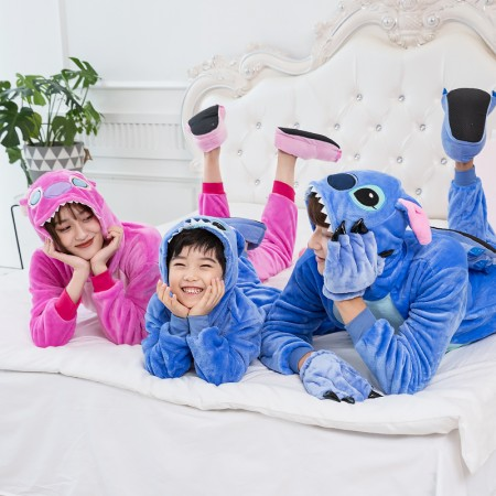 Stitch Onesie Family Matching Costume Onesie for Women & Men Pajamas Halloween Outfit