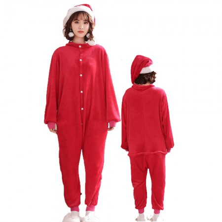 Santa Claus Costume Onesie for Women & Men Pajamas Halloween Outfit