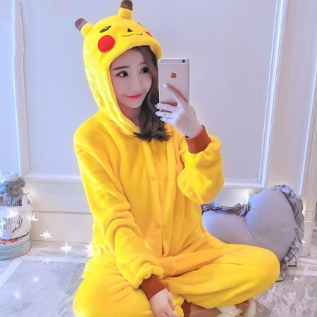 Pikachu Onesie Costume Pajamas for Adults & Teens Halloween Outfit