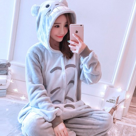 Totoro Onesie Costume Pajamas for Adults & Teens Halloween Outfit