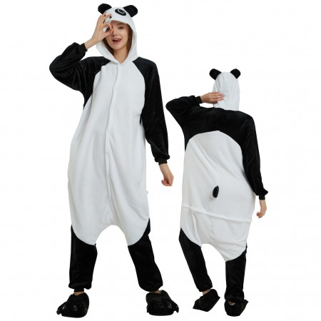 Panda Onesie Costume Pajamas for Adults & Teens Halloween Outfit