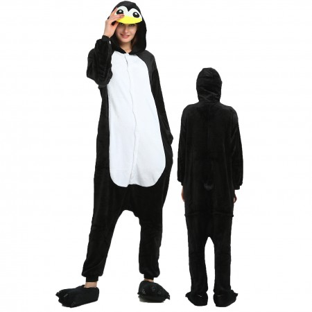Women & Men Penguin Onesie Costume Onesies Pajamas for Halloween