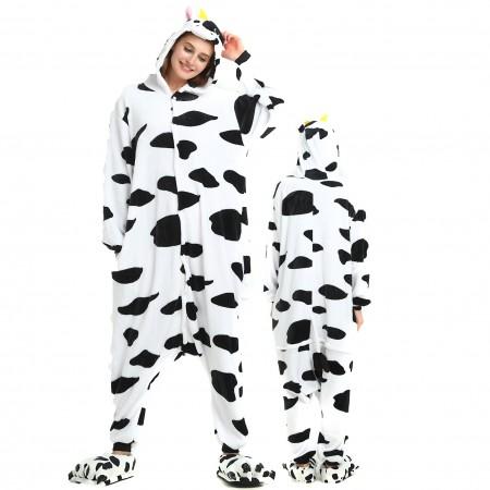 Women & Men Cow Onesie Costume Onesies Pajamas for Halloween