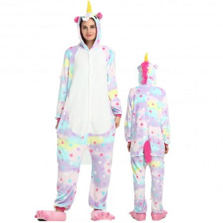Women & Men Star Unicorn Onesie Costume Onesies Pajamas for Halloween