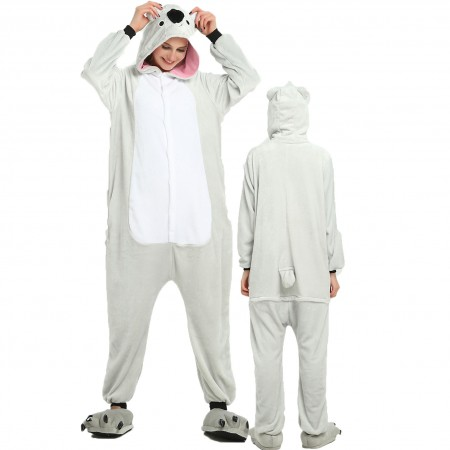 Women & Men Koala Onesie Costume Onesies Pajamas for Halloween