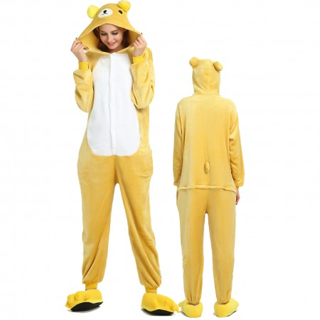Women & Men Rilakkuma Onesie Costume Onesies Pajamas for Halloween