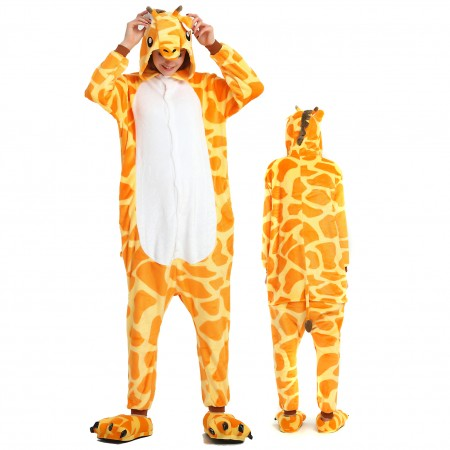 Women & Men Giraffe Onesie Costume Onesies Pajamas for Halloween
