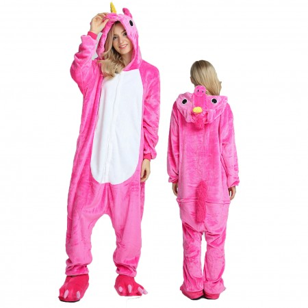 Women & Men Rose Unicorn Onesie Costume Onesies Pajamas for Halloween