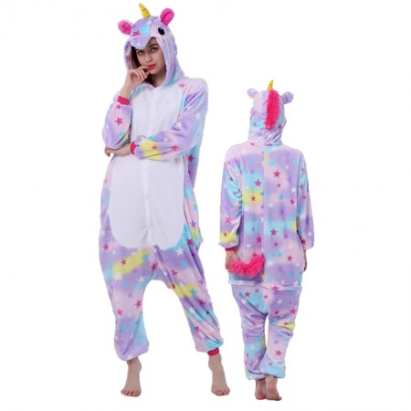 Star Unicorn Onesie for Women & Men Unicorn Costume Onesies Pajamas Halloween Outfit