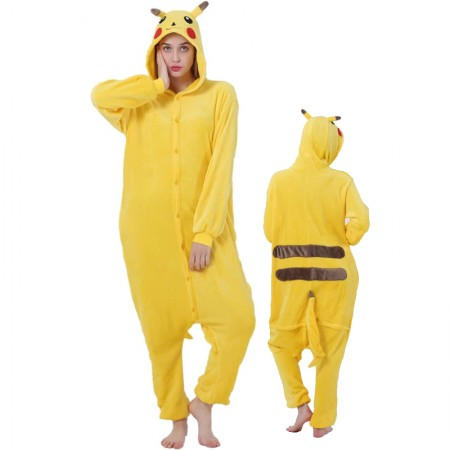 Pikachu Onesie for Women & Men Costume Onesies Pajamas Halloween Outfit