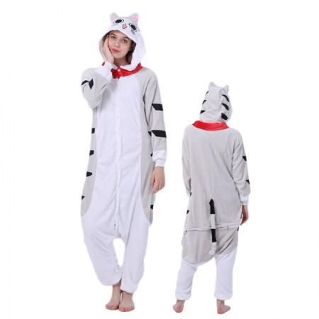 Cheese Cat Onesie for Women & Men Costume Onesies Pajamas Halloween Outfit