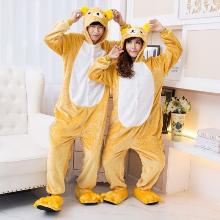 Rilakkuma Onesie for Women & Men Couple Costume Onesies Pajamas Halloween Outfit