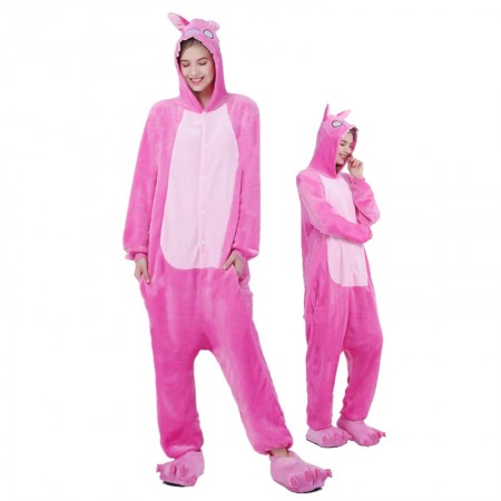 Pink Stitch Onesie for Women & Men Costume Onesies Pajamas Halloween Outfit