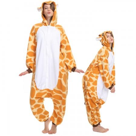Giraffe Onesie Costume Pajama for Adult Women & Men Halloween Costumes